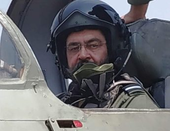 The Chief of the Air Staff, Air Chief Marshal B.S. Dhanoa at a solo sortie on a MiG-21 Type – 96 fighter aircraft, during his visit to Air Force Station Sulur, in Tamil Nadu